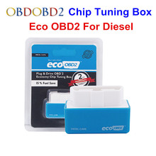 4 Colors EcoOBD2 Diesel Gasoline Car Chip Tuning Box Eco OBD2 Plug and Drive Lower Fuel and Lower Emission NitroOBD2 Free Ship