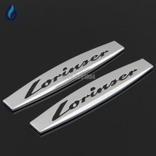Mercedes Benz W204 W203 W211 W210 W212 W205 Cla Gla Glc Glk W124 W163 Car Fender Side Stickers Lorinser Metal Emblem Decals