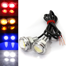 Car DIY New 2Pcs 9W Auto Car Eagle Eye Daytime Running DRL Tail LED Light Backup Lamp Multi-Colors (22*32mm)