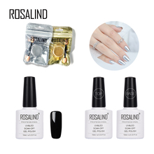 Rosalind Nail Polish Black Colors primer Varnish For Mirror Nail Glitter Pigment Powder Silver Manicure Need And Base Top Coat(China)