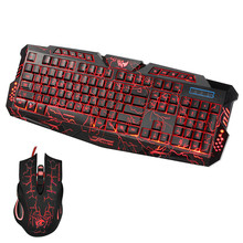 Best Price LED Gaming Wire 2.4G keyboard And Mouse Set to Computer Multimedia Gamer Colorful