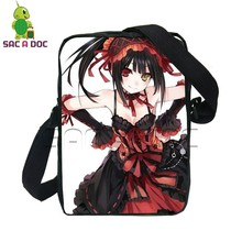 Women Men Messenger Bags Anime Date A Live Nightmare Hermit Print Shoulder Bag Crossbody Bags Casual Women Men Small Handbags(China)