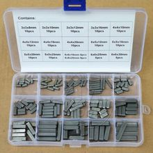 Round Ended Feather Key Drive Shaft Parallel Keys 3 4 5 6mm Assortment Kit(China)
