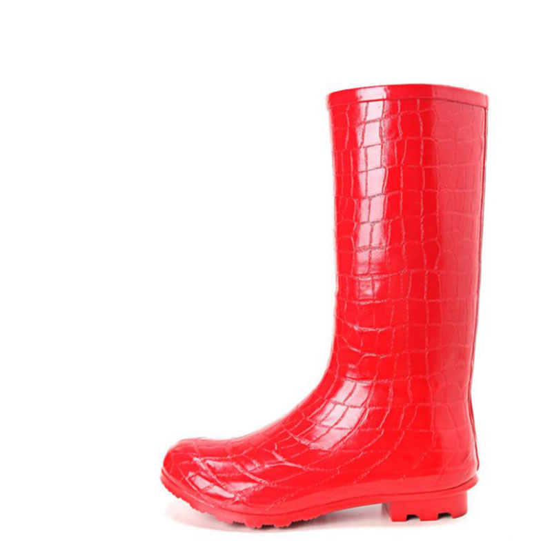Rubber Boots For Women 2017 Spring Autumn Rain boots Walking Outdoor Hunting Waterproof Calf Martins Rainboots Plus Size 41<br>