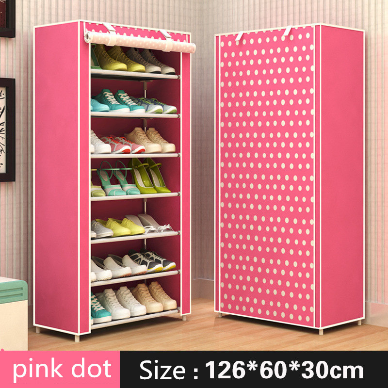 Modern minimalist shoe 8 layer non-woven dust creative combination cabinet storage rack organizer shoe storage home Furnitur 6