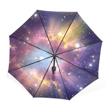 Galaxy Nebula Starry Night Sky Umbrella Fully-automatic Three Folding Male Commercial Compact Windproof 8Ribs Woman Umbrell Sun(China)