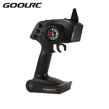 GOOLRC Brand AX5S 2.4G 3CH AFHS Radio RC Transmitter with Receiver Super Active Passive Anti-jamming for RC Car Boat(China)