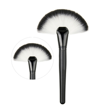 Soft Large Fan Shape Makeup Brush Foundation Blush Blusher Highlighter Powder Cosmetic Apply Dust Cleaning Pro Party Beauty Tool(China)