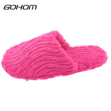 GOHOM Shoes Home Slippers Women Hotel Slippers For Indoor House Bedroom Flats Comfortable Soft Warm Winter Shoes Sapato Feminino(China)