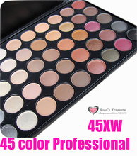 2017 HOT 45 Color Professional Eyeshadow Palette Shinning Makeup Eye Shadow Palette Set #45XW Kit Wholesale