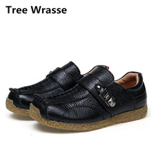 Tree Wrasse Boys Single Shoes Spring Children Genuine Leather Shoes For Girls Sports Shoes Kids Breathable Casual Sneakers(China)