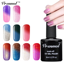 Vrenmol 1pcs Soak Off UV Nail Gel Polish Mood Temperature Thermal Color Change Verniz Lacquer 29 Colorful  Nail Gel