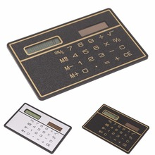 New Ultra Thin Mini Credit Card Sized 8-Digit Solar Powered Pocket Calculator