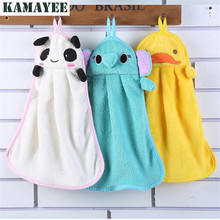 Microfiber Kids Children Cartoon Cute Animal Absorbent Hand Dry Towel Lovely Towel For Kitchen Bathroom(China)