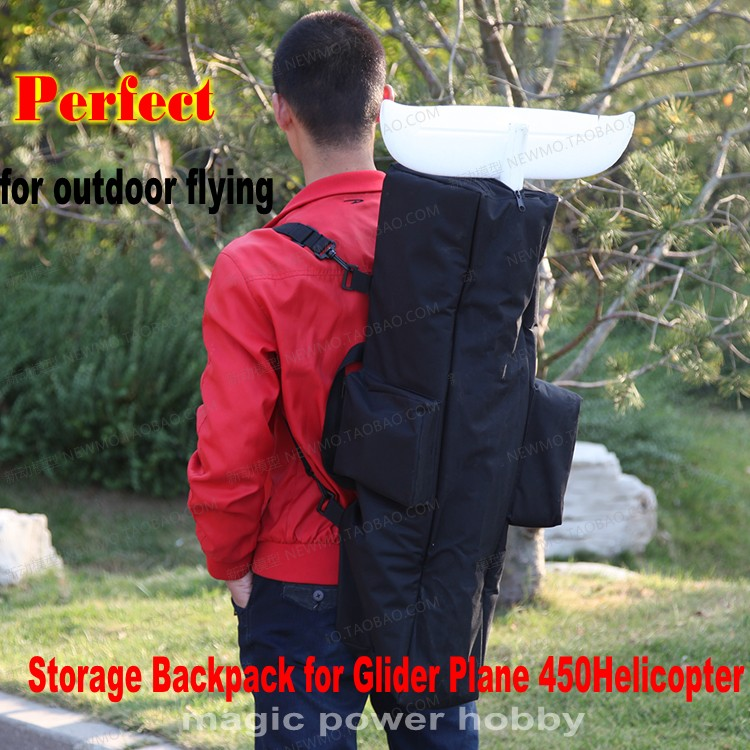 Multifunctional Backpack Storage Bag Handbag RC Glider Plane Helicopter 450 Easy Carrying