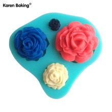 3D Silicone Mold Rose Shape Mould For Soap,Candy,Chocolate,Ice,Cake -C016