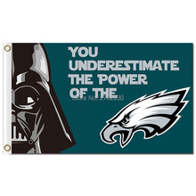 Philadelphia Eagles Banner Flag 3ft X 5ft Football YOU UNDERESTIMATE THE POWER OF THE World Series Philadelphia Eagles Flag(China)