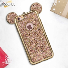 KISSCASE 3D Mickey Mouse Ear Case For iPhone 5 5s SE Soft Silicone Bling Glitter Cover Case For iPhone 5 5s SE Coque Accessories(China)