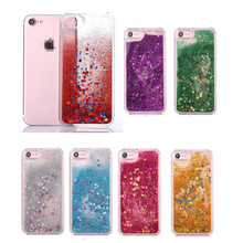 for iPhone 7 Case Bling Glitter Sparkle Stars Quicksand Water Hard Plastic Case Cover for iPhone 7 Plus Liquid Case Coque Fundas