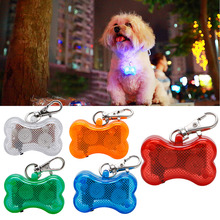 Nice Pet Collars Pet Supplies Dog Tag Pendant Safety LED Luminous Plastic Pendant