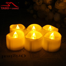 Flickering Yellow LED Tealights Candle for Wedding Birthdays Party Decorations Votive Holder Stocking Stuffers