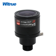 Witrue 3.0Megapixel M12 HD 2.8-12mm Varifocal cctv IR HD Lens,F1.4,manual focus zoom,view angle 90~28degree