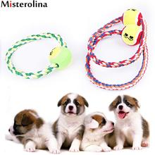 Dog O-type Rope Tennis Toy Knot Puppy Chew Teething Toys Teeth Cleaning Pet Palying Ball For Small Medium Large Dogs PAY5469
