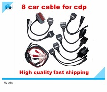 Top OBD2 Cables For TCS CDP PRO Programmer Cars Cables Diagnostic Interface Tool Full set 8 Car Cables For Autocom DELPHI DS150E(China)