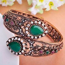 Buy Women bangles Acrylic Bangles Women Best Party Accessories Antique Silver Plated Flower Design Jewelry Turkish Bracelet Pulseira for $6.15 in AliExpress store