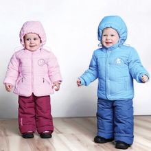 Winter Baby Suit Children Sets Bib Pants Kids Jacket Warm Coat Suit for Boys Girls Warm long fleece Jacket 1307(China)