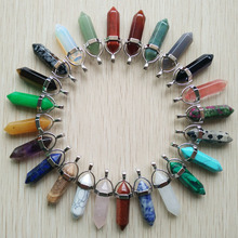 Buy Wholesale 24pcs/lot 2017 high assorted natural stone mixed pillar charms chakra Pendants & necklaces making free for $15.19 in AliExpress store