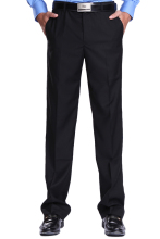 Straight Legged Pants Chef Pants for  Men Work Overalls Black Staff Frock Trousers