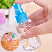 Color send randomly !!! 2 x 30ml Travel Transparent Small Empty Plastic Perfume Atomizer Spray Bottle