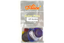 Alice 6pcs Water Drop Heavy Durable Clear Jazz Guitar Electric Guitar Bass Picks Plectrums Clamshell Free Shipping