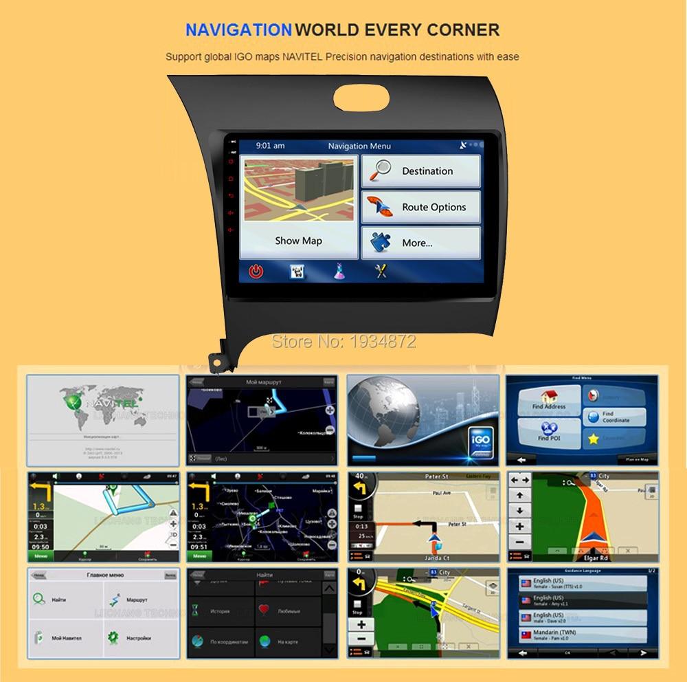 Android 6.0 dvd- GPS KIA K3FORTECERATO 2013 DVR WI-FI DSP DAB OBD 8 Octa 2 RAM 32 ROM