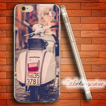 Capa Vespa Scooter Rome Soft Clear TPU Case for iPhone 7 6 6S Plus 5S SE 5 5C 4S 4 Plus Case Ultra Thin Slim Silicone Cover.(China)
