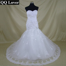 QQ Lover 2017 Luxurious Croset Bodice Lace Top Quality Mermaid Designer Wedding Dress Bridal Gown Vestido De(China)