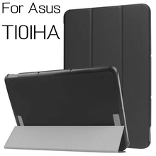 "Top Quality Stand Smart PU Leather Cover for Asus Transformer Book T101HA 10.1"" Tablet Case With Free Stylus Pen+OTG"