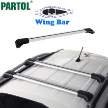 "Partol 2pcs/set Universal Roof Rack Cross Bar with Side Rails Fit Cars With 36.6""~39"" Roof Width Aluminum Crossbars 80kg Loading(China)"