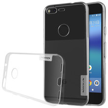 For google pixel cover 5.0 inch Nillkin Nature Soft silicon slim TPU Protector case cover for google pixel case Retail package