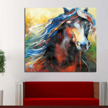 100% hand-painted wild horses in all modern abstract art family adornment art wall panels of the best gifts