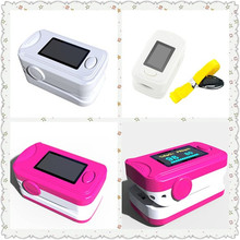 2PCS Color Red and White OLED Fingertip Pulse Oximeter With Audio Alarm & Pulse Sound - Spo2 Monitor Finger Puls Oximeter