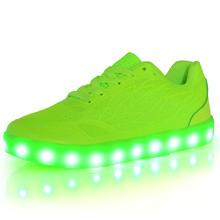 Youth beautiful beautiful lady shining  lady ghost dance step lights LED shine shoes candy jelly shoes USB rechargeable lights