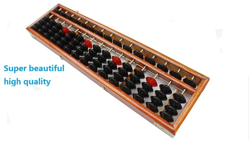 Pretty chinese abacuses beautiful 15 column wooden Abacus Wooden Frame Beads abacus soroban Ancient toys<br>