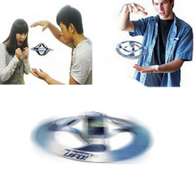 1PC Kid Amazing Mystery UFO Floating Flying Disk Saucer Magic Cool Trick Toy New Arrival Novetly Toys(China)