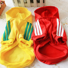 10 pieces wholesale cheap dog clothes puppy pet coat dog hoodie sweater pet shop adidogs pet dog clothes for chihuahua(China)