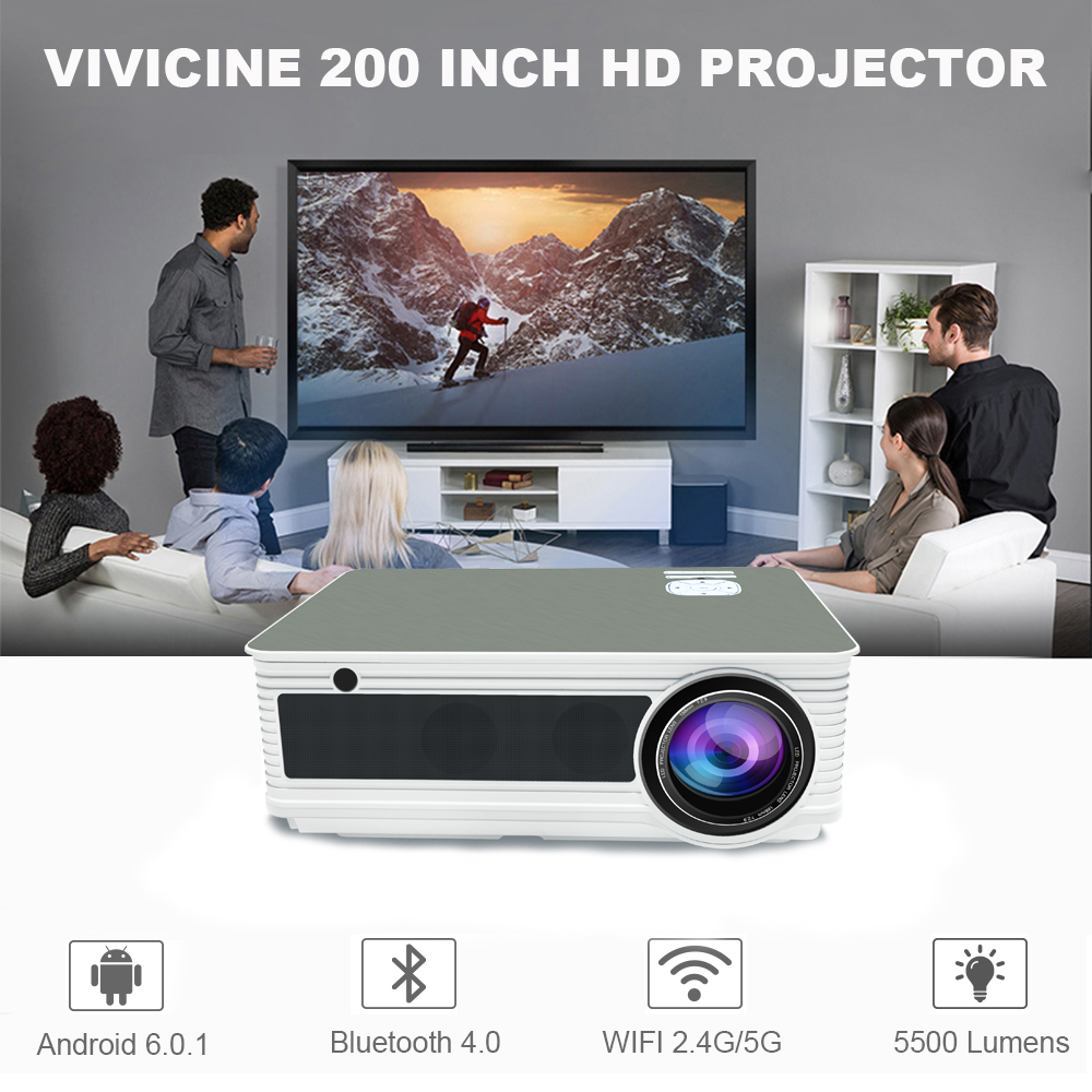 VIVICINE 5500Lumens 1080p HD LED Projector (19)