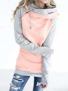 Winter Sweatshirt Hooded Warm Pink Female Women Autumn