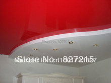 Red Glossy Ceiling Film Combining With PVC Ceiling Panel