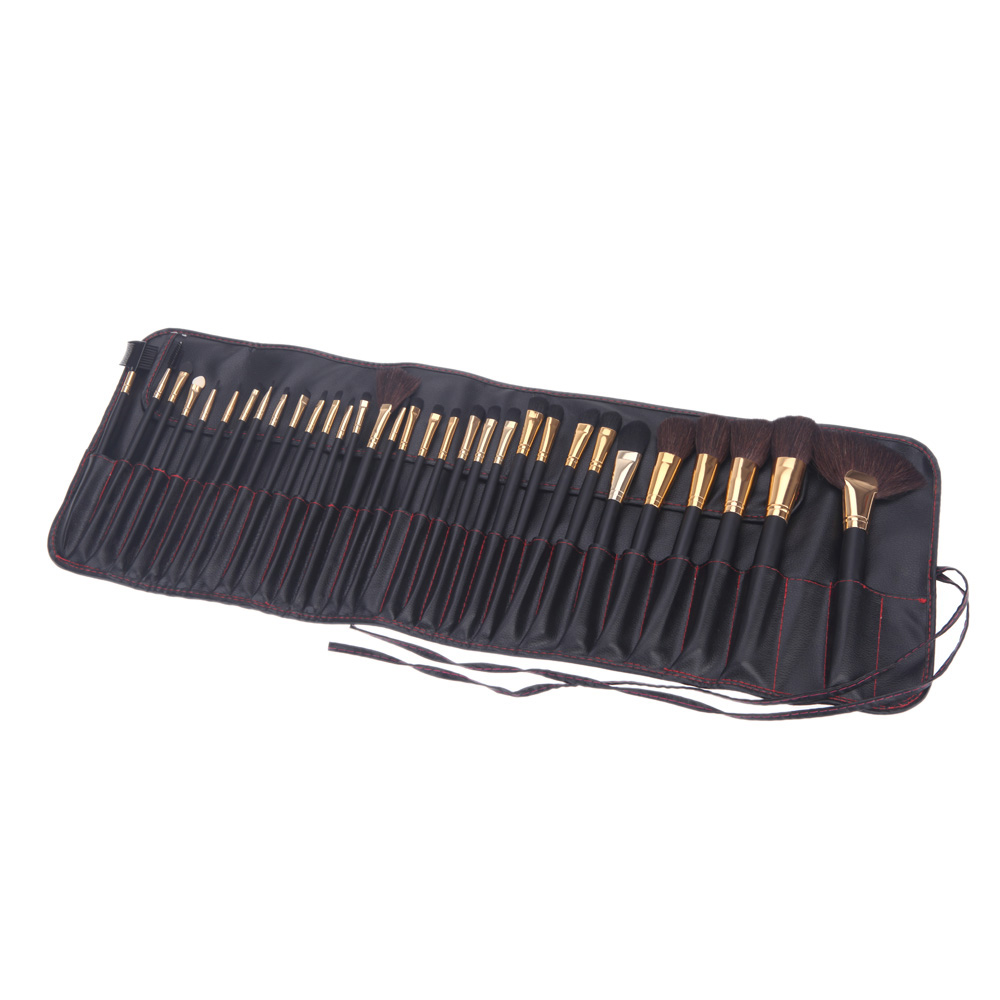 32Pcs Professional Cosmetic Make Up Set Wood Makeup Brushes Kit With Pouch Bag Case styling tools make up brushes face care<br>
